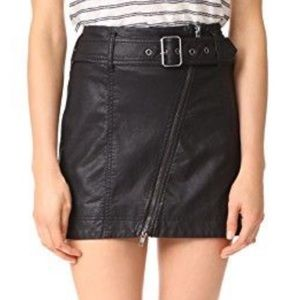 Free people size 2 leather skirt
